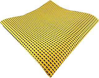 giallo traffico giallo brillante monocromatico Pochette 100/% poliestere ohne Markenname TigerTie fazzoletto