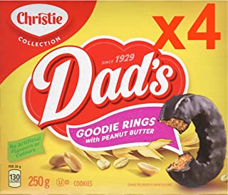 4 Boxes Dad's Original Goodie Ring Cookies with Peanut Butter 250g