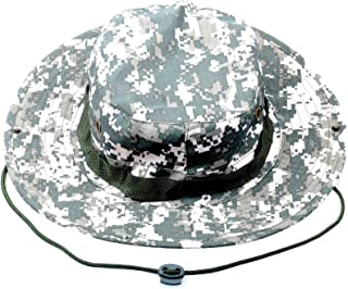Wide Brim Military Bucket Boonie Sun Hat for Summer Outdoor Hiking Fishing Gardening Hunting Camping Wargame