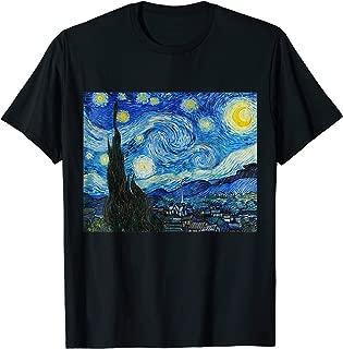 Starry Night Vincent van Gogh Fine Art Painting T-Shirt
