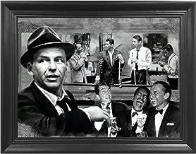 The Rat Pack Shooting Pool 3D Poster Wall Art Decor Framed Print   14.5x18.5   Lenticular Posters & Pictures   Memorabilia Gifts for Guys & Girls Bedroom   Frank Sinatra, Dean Martin & Sammy Davis Jr