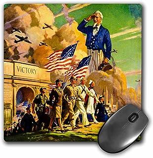 3dRose mp_269807_1 - Alfombrilla para ratón (diseño de la Guerra Mundial Patriótica Americana Ii Vintage