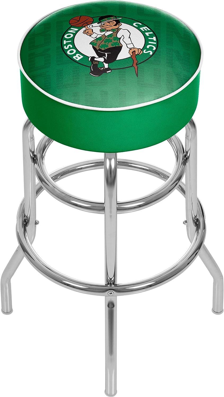 Trademark Gameroom NBA1000-BC3 NBA Padded Swivel bar StoolCityBoston Celtics