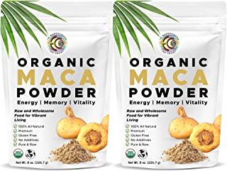 Sponsored Ad - Earth Circle Organics - Organic Peruvian Mighty Maca Root Powder | Natural Superfood | Ideal for Men & Wome...