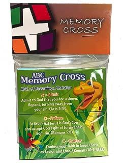 Memory Cross ABC Gospel Tract for Children 25 Cards Per Pack 99779