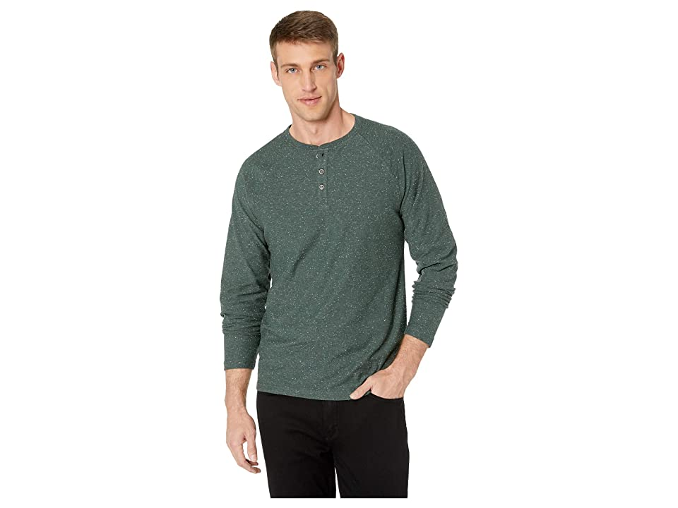 fe4d92adcd Lucky Brand Long Sleeve Snow Heather Henley Tee (Green) Men