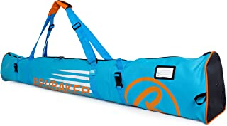 BRUBAKER Ski Bag Carver Champion - Limited Edition - for 1 Pair of Ski and Poles, Padded, Resistant