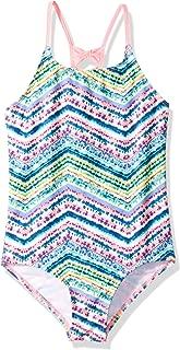 Big Girls' Tie Dye Chevron Stripe Swim Suit 1pc