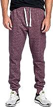ProGo Men's Casual Jogger Sweatpants Basic Fleece Marled Jogger Pant Elastic Waist
