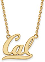 10k Yellow Gold UC Berkeley California Golden Bears School Letters Logo Pendant 15x18mm