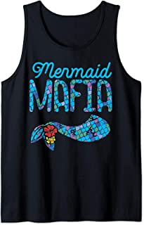 Mermaid Mafia Cute Tail Security Family Matching Party Gift Tank Top