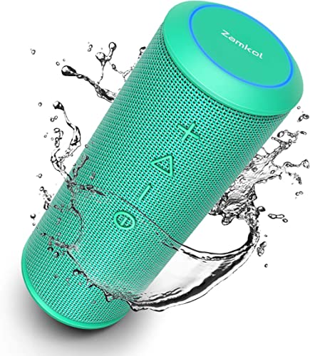 Zamkol Bluetooth Speakers, Bluetooth Speakers Portable WirelessV4.2 with Powerful 24W with 360° Bass Sound, TWS, 15H ...