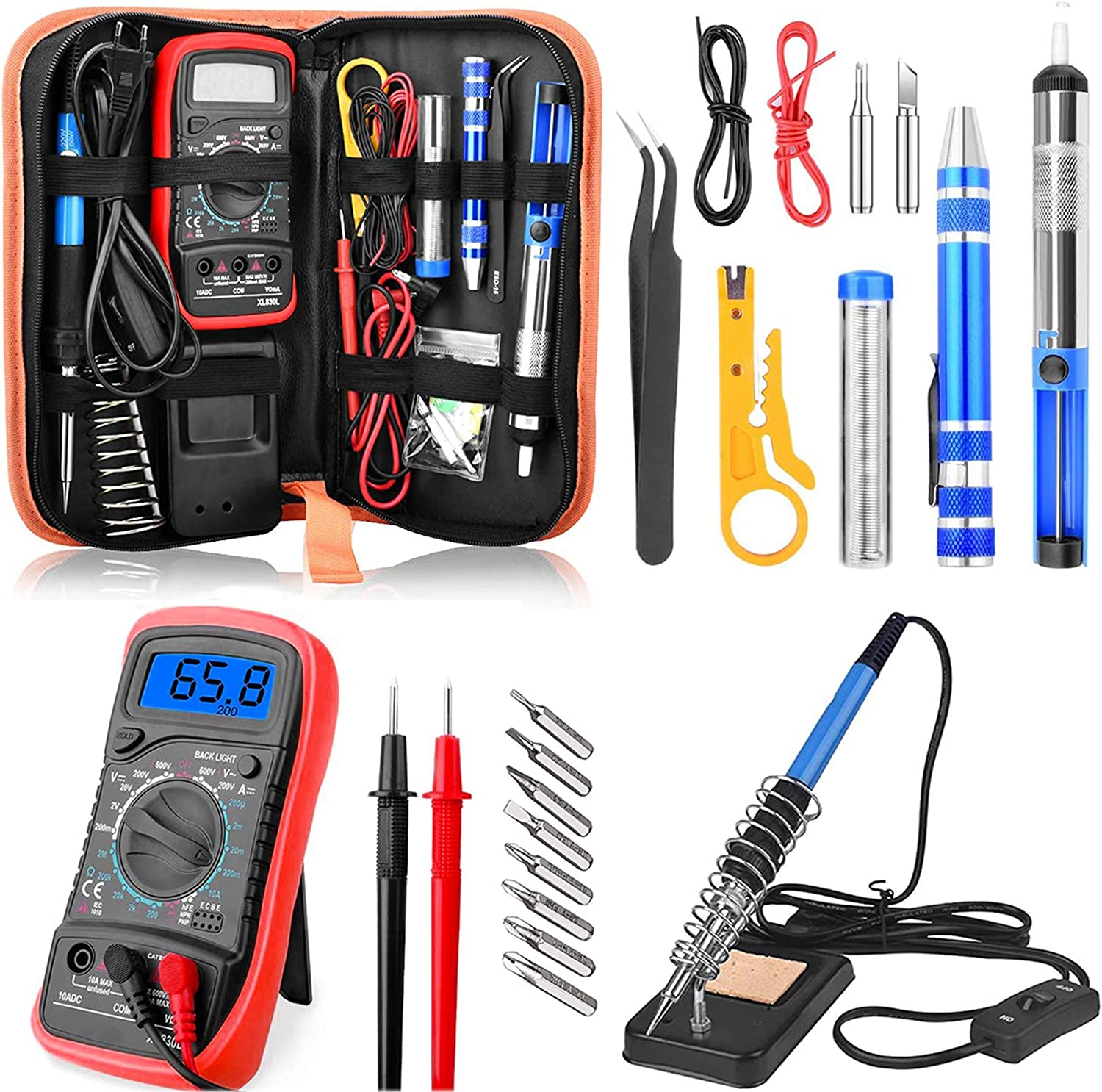 Easy-to-use ETEPON Soldering Iron Max 79% OFF Kit 60W Adjustable Wood Burni Temperature
