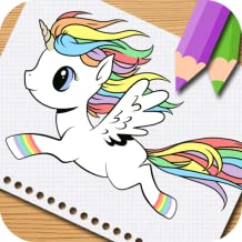 Unicorn Little Pony Coloring Book. For Kids,Preschooler,Girls and Adults.