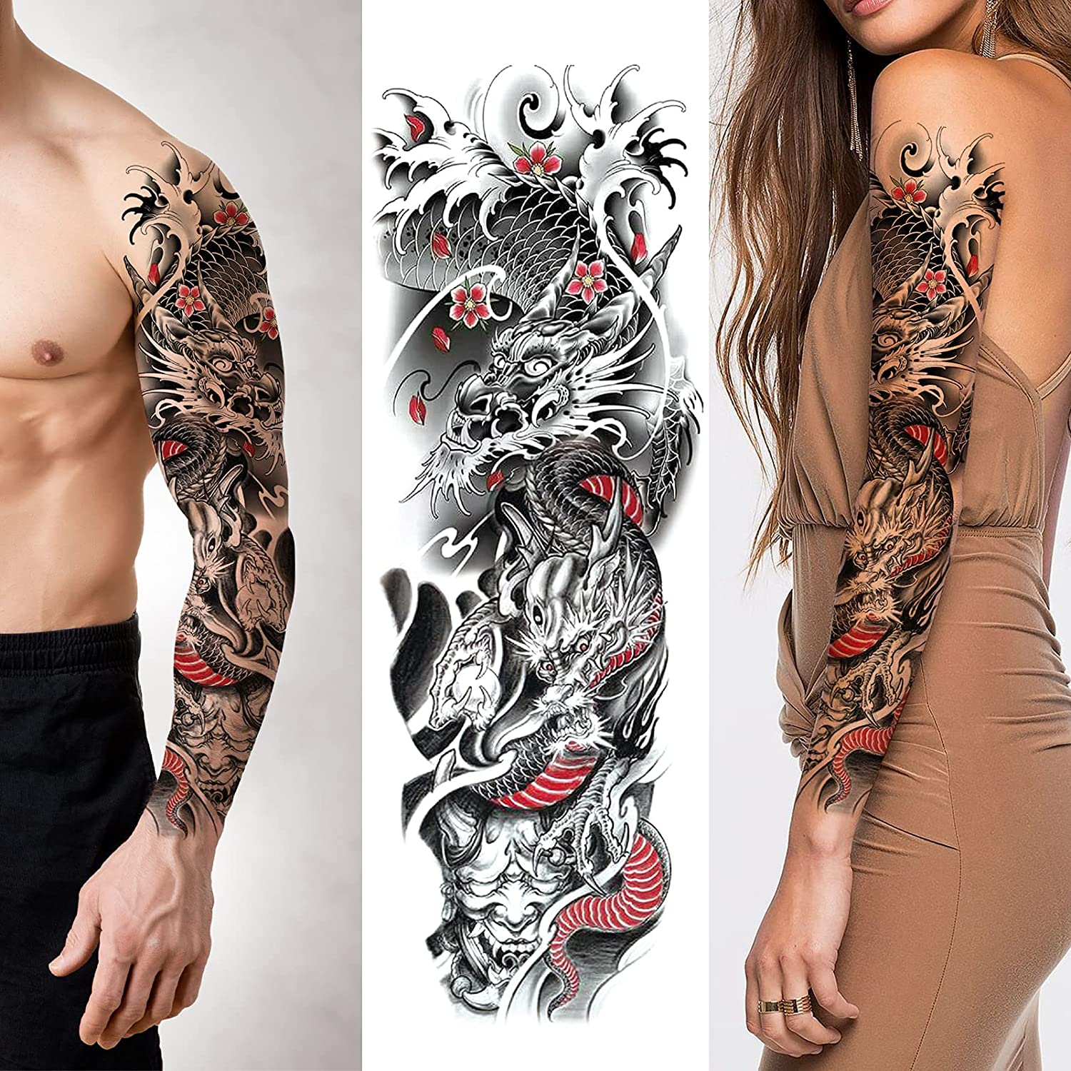 Full Arm Temporary Tattoos -Waterproof Fake With Overseas parallel import Great interest regular item Realist