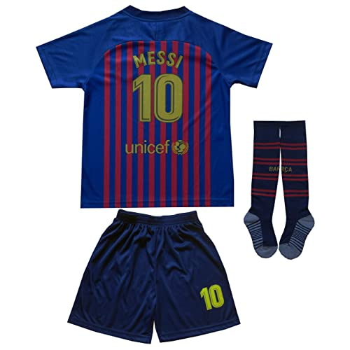 8c7c005195d Da Games Youth Sportswear Barcelona Messi 10 Kids Home Soccer Jersey/Shorts  Football Socks Set