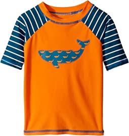 Tiny Whales Short Sleeve Rashguard (Toddler/Little Kids/Big Kids)
