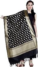 Chandrakala Women's Handwoven Cutwork Indian Ethnic Brocade Banarasi Dupatta Stole Scarf(D114)