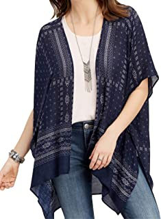 cbf50bb96ac0a Spicy Sandia Swimsuit Cover ups for Women with Tassel Open-Front Kimono  Cardigan with Vintage
