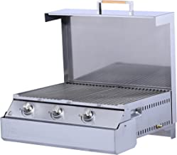 SPACE GRILL SGBBQ640TC Compact Grill, Stainless Steel
