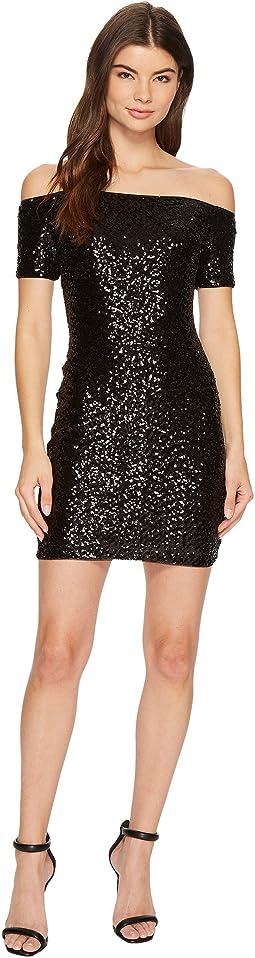 Aidan Mattox - Off the Shoulder Sequin Dress