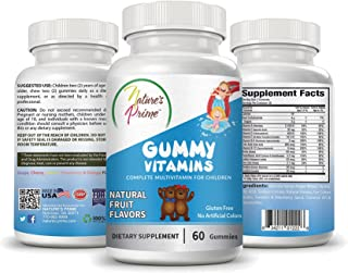 Nature's Prime Children's Gummy Vitamins with Natural Fruit Flavors for Kids - Gluten Free - No Artificial Colors