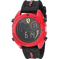 Ferrari Men's Forza Quartz Watch with Silicone Strap