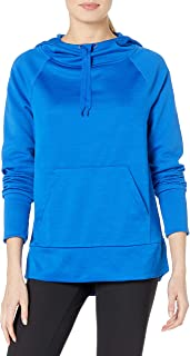 Hanes Women's Sport Performance Fleece Pullover Hoodie, Awesome Blue Solid/Awesome Blue Heather, L