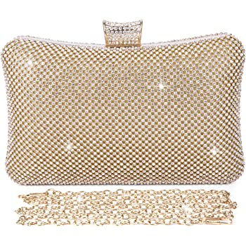 Satin Clutch Bag Women Bridal Designer Ladies Evening Party Bobble Clasp UK New
