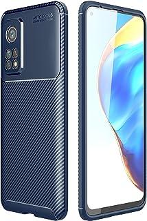 شاومى مى 10 تى / مى 10 تى برو (Xiaomi Mi10T / Mi 10T Pro 5G) جراب خلفي اتوفوكس سيليكون مقاوم للصدمات من الكربون فايبر - ازرق