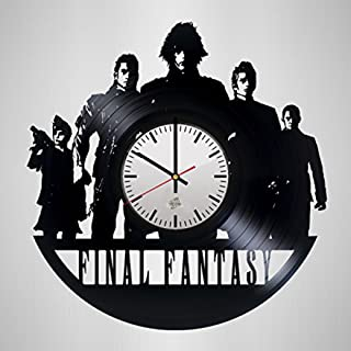 WhatsUp Store Final Fantasy Design Vinyl Record Wall Clock - Wonderful Living Room or Play Room Wall Art Decoration - Fancy Gift idea for his and her
