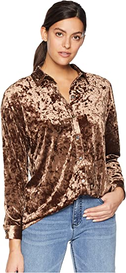 eff6104ca8142 Long Sleeve Drop Shoulder Blouse