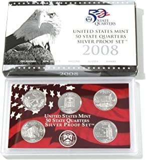 2008 United States Mint State Quarter Silver Proof Set Govt. Packaging