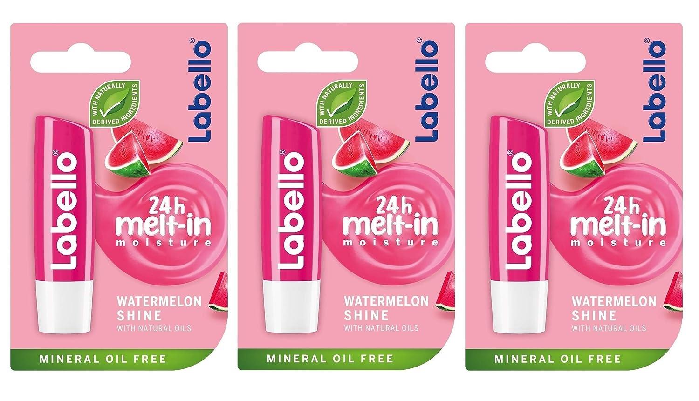 Fresno Mall Labello Watermelon Shine Lip Popular products Balm 3 pack -