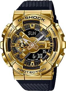 ساعة انالوج بعقارب ورقمية بسوار راتنج للجنسين من كاسيو G-Shock - اسود وذهبي