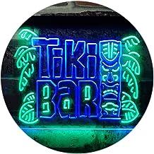 Tiki Bar Mask Beer Pub Club Wine Dual Color LED Neon Sign Green & Blue 600 x 400mm st6s64-i3139-gb
