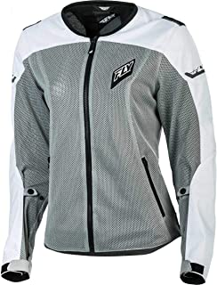 Fly Racing Women's Flux Air Jacket (XX-Large) (White/Grey)