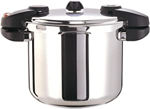 Buffalo QCP408 8-Quart Stainless Steel Pressure Cooker [Classic series]