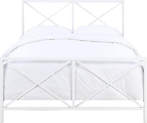 Pulaski Queen Metal Bed In White