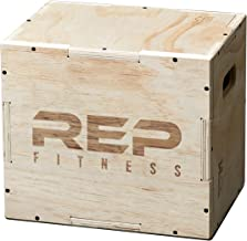 REP FITNESS Unassembled 3 in 1 Wood Plyometric Box for Jump Training and Conditioning 30/24/20, 24/20/16, 20/18/16, 16/14/12 …