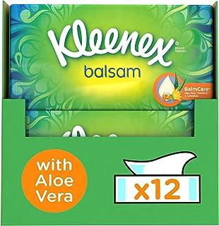 Kleenex BALSAM – Mouchoirs en papier – Lot de 12 Boîtes de Mouchoirs Lotionnés