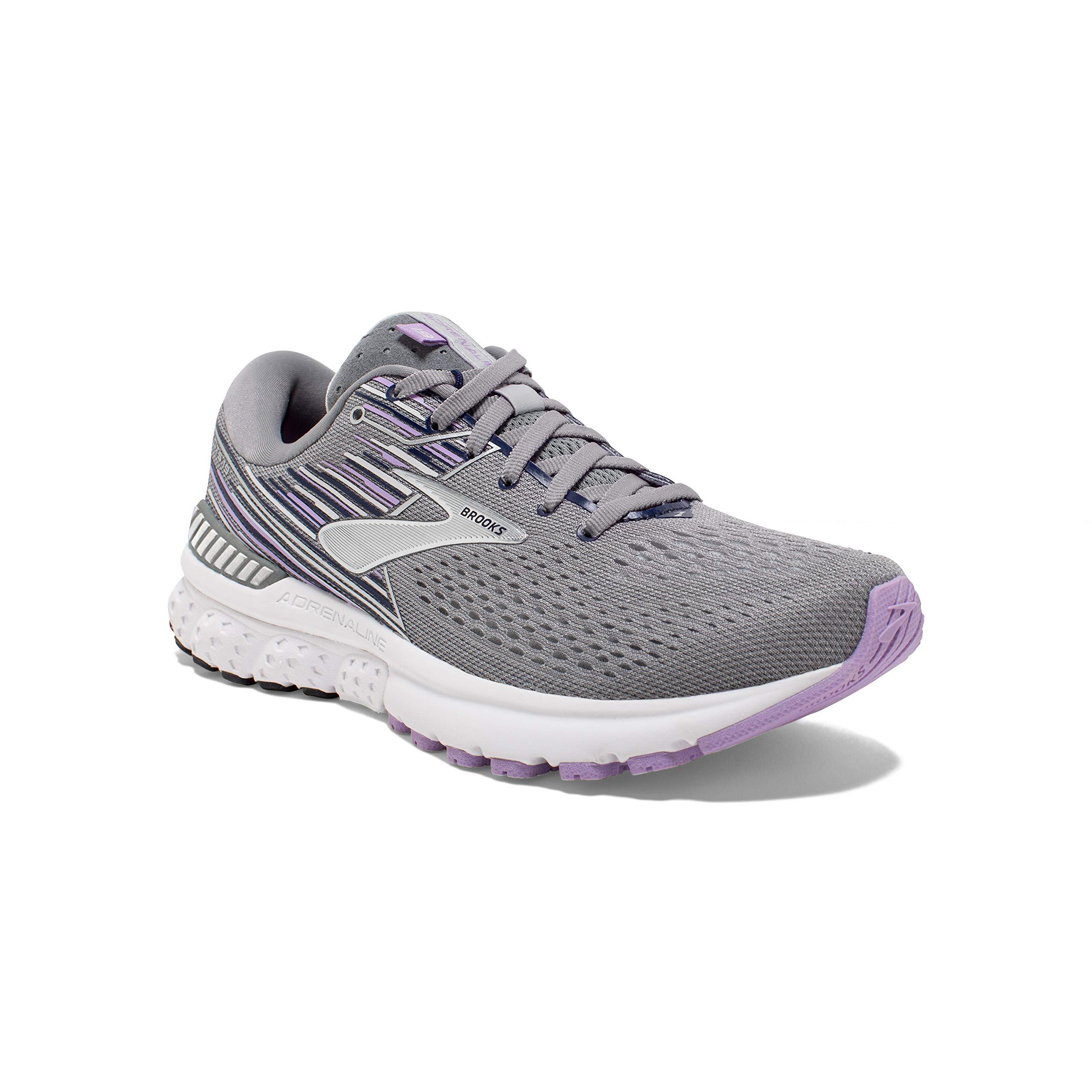 Brooks Womens Adrenaline Grey Lavender
