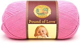 Lion Brand Yarn 550-102 Pound of Love Yarn, One Size, Bubble Gum
