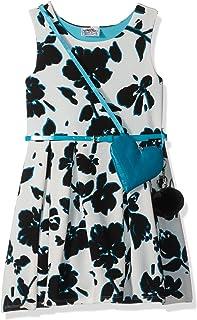 فستان متزلج من Beautees للفتيات بدون أكمام بطباعة ورود