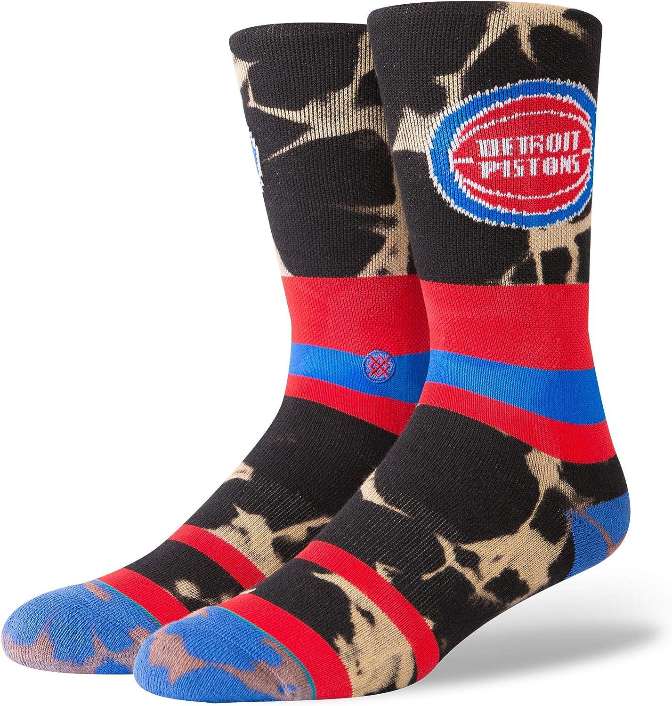 Stance Men's Pistons Acid Wash Socks,Large,Red