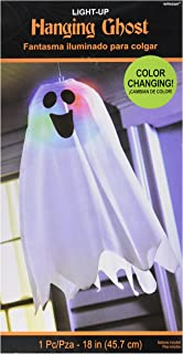 Amscan Halloween Light-Up Ghost Fabric Hanging Decoration