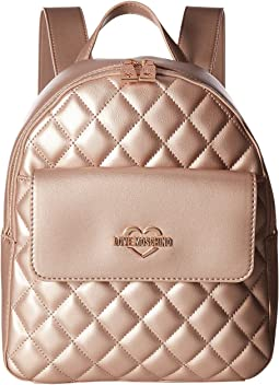 LOVE Moschino - Metallic Quilted Backpack