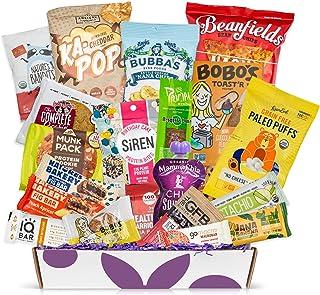 Healthy Vegan Snacks Care Package: Mix of Vegan Cookies, Protein Bars, Chips, Vegan Jerky, Fruit & Nut Snacks, Great Gift Baskets