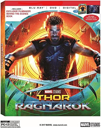 Thor: Ragnarok Limited Exclusive (Blu-ray + DVD + Digital) with 40-page Gallery Book