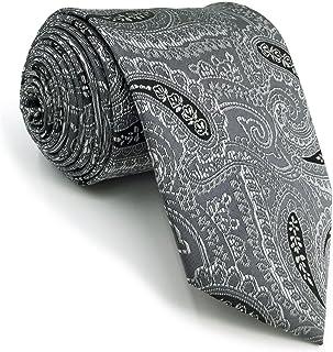 S/&W SHLAX/&WING Corbatas Para Hombre MulticolorRojo Cachemir Boda Seda
